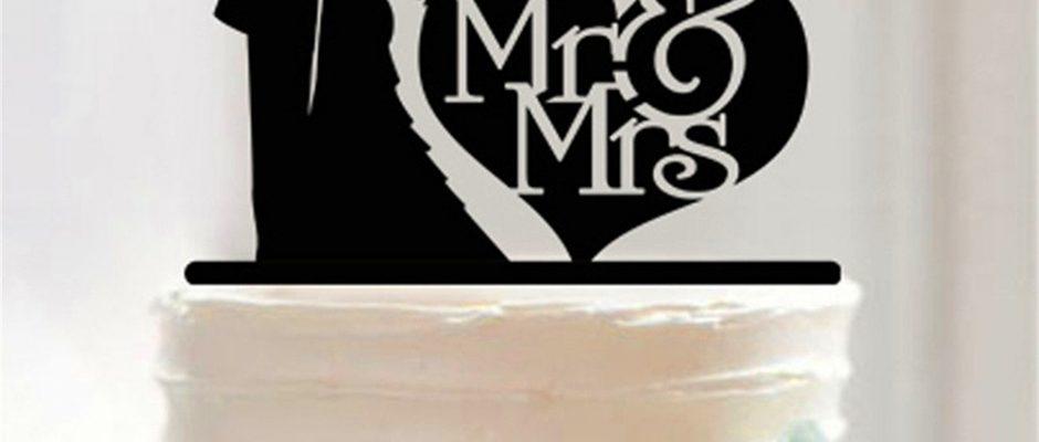 Hiasan Monogram Untuk Kue Pengantin