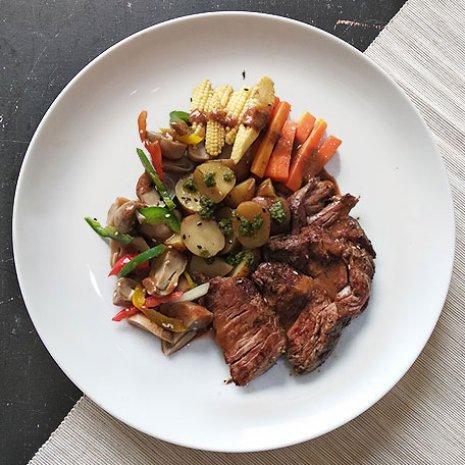 Au Poivre Steak With Brown Sauce