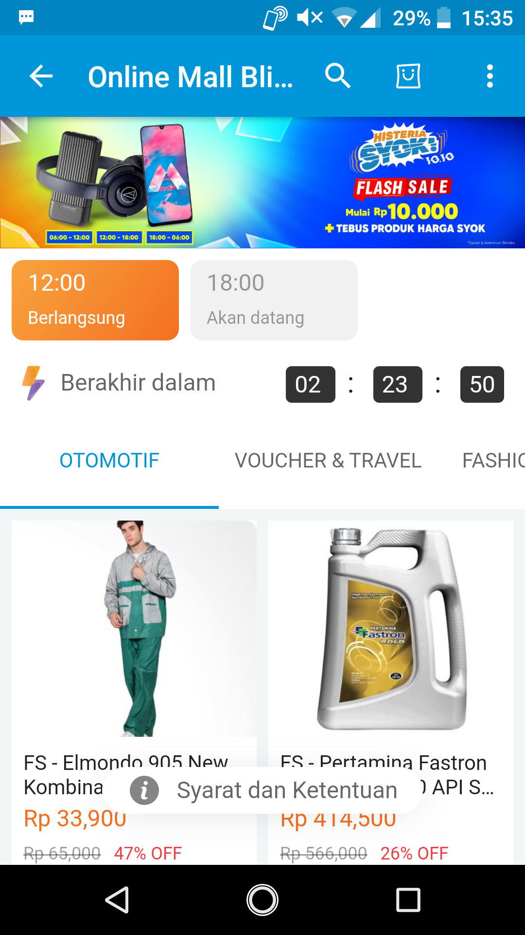 Flash Sale 24 Jam Nonstop di Event Harbolnasnya Blibli.com